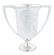 "Original sterling silver 'Loving Cup' presented to Captain Arthur Rostron of the Carpathia by Titanic survivor Margaret ""Molly"" Brown. Bidding is expected to exceed $200,000<br /> ©Exclusivepix"