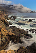 pacific coast highway 1 in big sur california offers amazing views of the rugged coast and the movement of the pacific ocean.