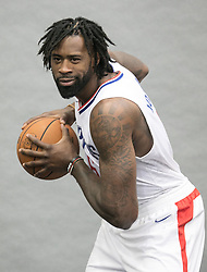 September 25, 2017 - Los Angeles, California, U.S - DeAndre Jordan #6 of the L.A. Clippers during Media Day on Monday September 25, 2017 at the L.A. Clippers training facility in Los Angeles, California. (Credit Image: © Prensa Internacional via ZUMA Wire)