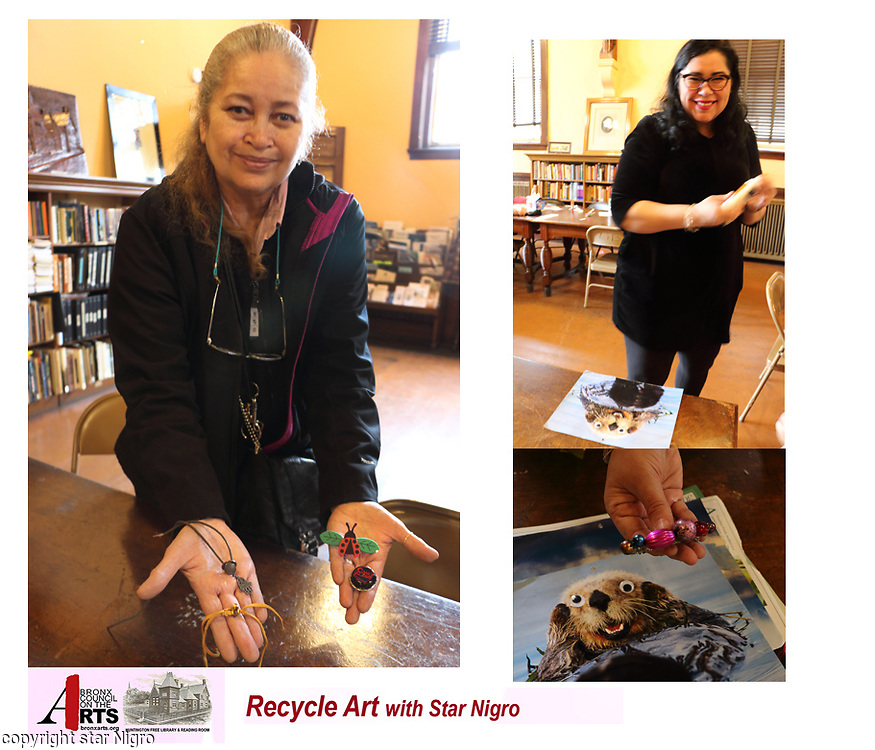 This series entitled Bronx eco arts project is a compilation of eco recycle workshops. I had the opportunity to teach and photograph these classes.<br /> <br /> <br /> photo by Star Nigro<br /> <br /> ©2021 All artwork is the property of STAR NIGRO.  Reproduction is strictly prohibited.<br /> <br /> starnigro.com
