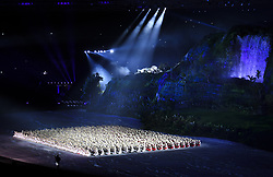 JAKARTA, Aug. 18, 2018  A performance is staged during the opening ceremony of the 18th Asian Games at Gelora Bung Karno (GBK) Main Stadium in Jakarta, Indonesia, Aug. 18, 2018. (Credit Image: © Pan Yulong/Xinhua via ZUMA Wire)