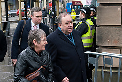 Edinburgh, Scotland, UK. 17 March, 2020.  Alex Salmond leaves the High Court in Edinburgh after the seventh day of his trial.  Iain Masterton/Alamy Live News