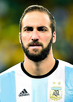 Conmebol - World Cup Fifa Russia 2018 Qualifier / <br /> Argentina National Team - Preview Set - <br /> Gonzalo Gerardo Higuain