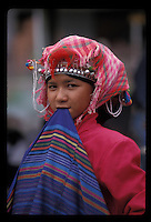 Young Akha tribal woman in the north of Laos- Photograph by Owen Franken - Photograph by Owen Franken