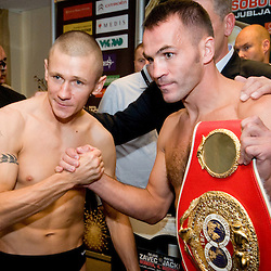 20100903: SLO, Boxing - Official weighing of boxers Dejan Zavec, SLO and Rafal Jackiewicz, POL