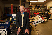 John Surtees, CBE, (11 February 1934 – 10 March 2017) the famous Formula 1 driver and motorcycle driver who became a legend by becoming world champion in Formula One once (1964) 4 times as a motorcycle racer. Photographed at home in December 2013.