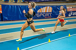 Femke Bol (r) win the 400 meter for Femke Klaver during AA Drink Dutch Athletics Championship Indoor on 21 February 2021 in Apeldoorn.