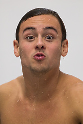 Tom Daley of Dive London Aquatic Centre pulls a face as he competes in the Mens 10m Platform Preliminary - Photo mandatory by-line: Rogan Thomson/JMP - 07966 386802 - 22/02/2015 - SPORT - DIVING - Plymouth Life Centre, England - Day 3 - British Gas Diving Championships 2015.