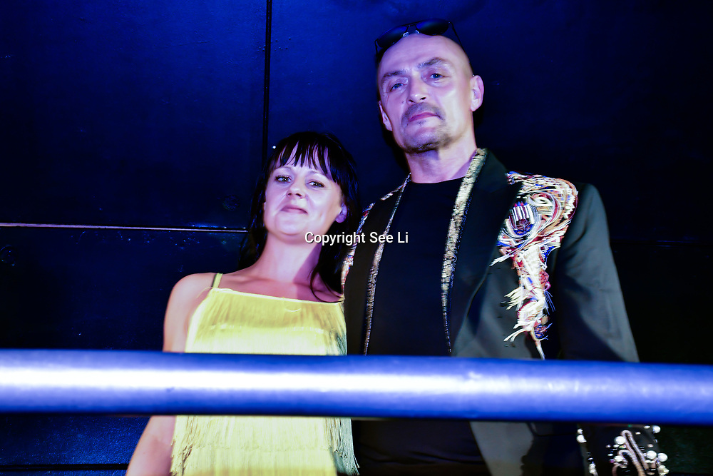 """Designer Aleah Leigh and Sean Cronin showcases at The Third Annual Integrity Awards by Dragon Lady Productions and The Peace Project 21st """"The Alternative Fashion Integrity Awards 2019 & Film Networking Soirée"""" on 21 September 2019, Fire Club Vauxhall, London, UK."""