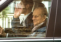 Duke of Edinburgh leaving the King Edward VII's Hospital - 14 April 2018