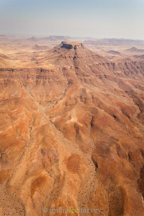 Aerial view, The Kaokoveld Desert, Kaokoland, Northern Namibia, Southern Africa