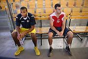 DESCRIZIONE : Roma Lega A 2013-2014 Allenamento Virtus Roma<br /> GIOCATORE : Quinton Hosley Jimmy Baron<br /> CATEGORIA : ritratto<br /> SQUADRA : Virtus Roma<br /> EVENTO : Allenamento Virtus Roma<br /> GARA : <br /> DATA : 25/09/2013<br /> SPORT : Pallacanestro <br /> AUTORE : Agenzia Ciamillo-Castoria/M.Simoni<br /> Galleria : Lega Basket A 2013-2014  <br /> Fotonotizia : Roma Lega A 2013-2014 Allenamento Virtus Roma<br /> Predefinita :