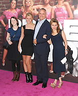 """WESTWOOD, CA - APRIL 28: Clayton Townsend and family arrive at the premiere of Universal Pictures' """"Bridesmaids"""" held at Mann Village Theatre on April 28, 2011 in Los Angeles, California."""