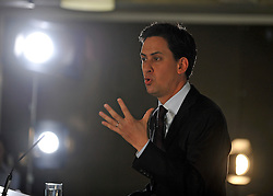 © licensed to London News Pictures. LONDON, UK.  13/06/11. Labour Party leader Ed Miliband speak to members of the community and to the media at Coin Street Neighbourhood Centre, South Bank, London. Mr Miliband answered questions that concerned the local community and some challenging questions from the media concerning his relationship with his brother David Miliband Photo credit should read Stephen Simpson/LNP