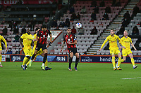 Football - 2020 / 2021 Sky Bet Championship - AFC Bournemouth vs. Wycombe Wanderers - The Vitality Stadium<br /> <br /> Bournemouth's Dominic Solanke gets a first half header well saved during the Championship match at the Vitality Stadium (Dean Court) Bournemouth <br /> <br /> COLORSPORT/SHAUN BOGGUST