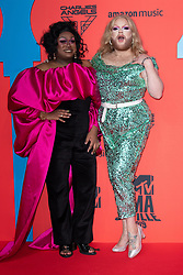 Mahatma Kandhi and Grace Shush attend the MTV EMAs 2019 at FIBES Conference and Exhibition Centre on November 03, 2019 in Seville, Spain. Photo by ABACAPRESS.COM