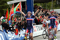 Winner  Arnaud Demare (France), during the Men´s Under 23 Road Race on day five of the UCI Road World Championships on September 23, 2011 in Copenhagen, Denmark. (Photo by Marjan Kelner / Sportida Photo Agency)