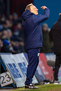 Cardiff City manager Neil Warnock gestures during the The FA Cup 3rd round match between Gillingham and Cardiff City at the MEMS Priestfield Stadium, Gillingham, England on 5 January 2019. Photo by Martin Cole.