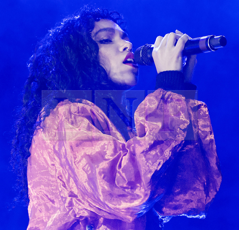 © Licensed to London News Pictures. 06/06/2015. London, UK.   FKA Twigs performing live at Field Day Festival Saturday Day 1.  FKA Twigs, real name Tahliah Debrett Barnett, is a British singer, songwriter, producer and dancer.  <br />  Photo credit : Richard Isaac/LNP