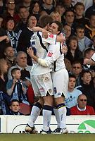 Photo: Ashley Pickering.<br />Southend United v Leeds United. Coca Cola Championship. 17/03/2007.<br />David Healy (R) celebrates his equaliser for Leeds