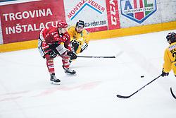 SVETINA Erik during Alps Hockey League match between HC Pustertal and HDD SIJ Jesenice, on April 3, 2019 in Ice Arena Podmezakla, Jesenice, Slovenia. Photo by Peter Podobnik / Sportida