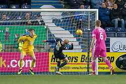Falkirk's Zak Rubben misses a chance. Falkirk 0 v 1 Ayr United, Scottish Championship game played 3/11/2018 at The Falkirk Stadium.