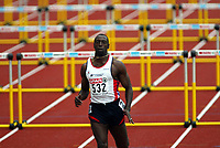 Friidrett, 9.august 2002. Europamesterskapet 2002. Tony Jarrett, Storbritannia, løp 110 meter hekk.  Foto: Anders Hoven, Digitalsport