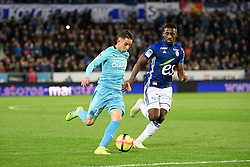 May 3, 2019 - Strasbourg, France - 27 MAXIME LOPEZ (OM) - 23 LIONEL CAROLE  (Credit Image: © Panoramic via ZUMA Press)