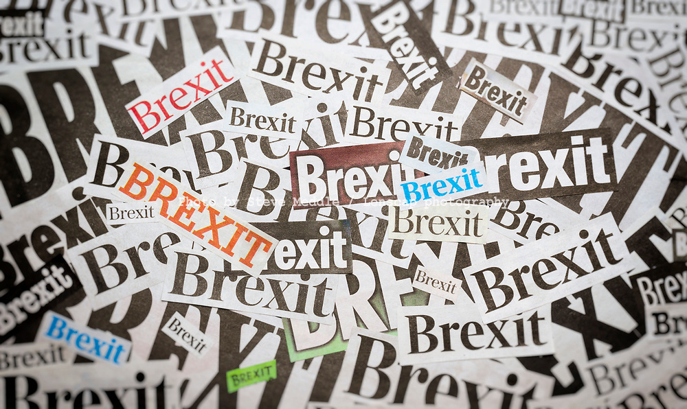 The word Brexit in newspaper style