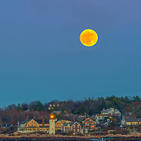 Beaver full moon rise over Annisquam Lighthouse in Gloucester, MA on Cape Ann, Massachusetts. Photography image taken from Wingaersheek Beach.<br /> <br /> Getting this rather unique photography image of Sunday night's full Beaver Moon rising behind Annisquam Harbor Lighthouse in Gloucester Massachusetts on Cape Ann was a very long time in the making. So glad it finally all came together; a full moon, clear sky, low tide and time to head out to Wingaersheek Beach.<br /> <br /> Picturesque Massachusetts full Beaver Moon rising behind Annisquam Harbor lighthouse photography images are available as museum quality photography prints, canvas prints, acrylic prints, wood prints or metal prints. Fine art prints may be framed and matted to the individual liking and decorating needs:<br /> <br /> https://juergen-roth.pixels.com/featured/full-beaver-moon-rise-behind-annisquam-harbor-lighthouse-juergen-roth.html<br /> <br /> Good light and happy photo making!<br /> <br /> My best,<br /> <br /> Juergen