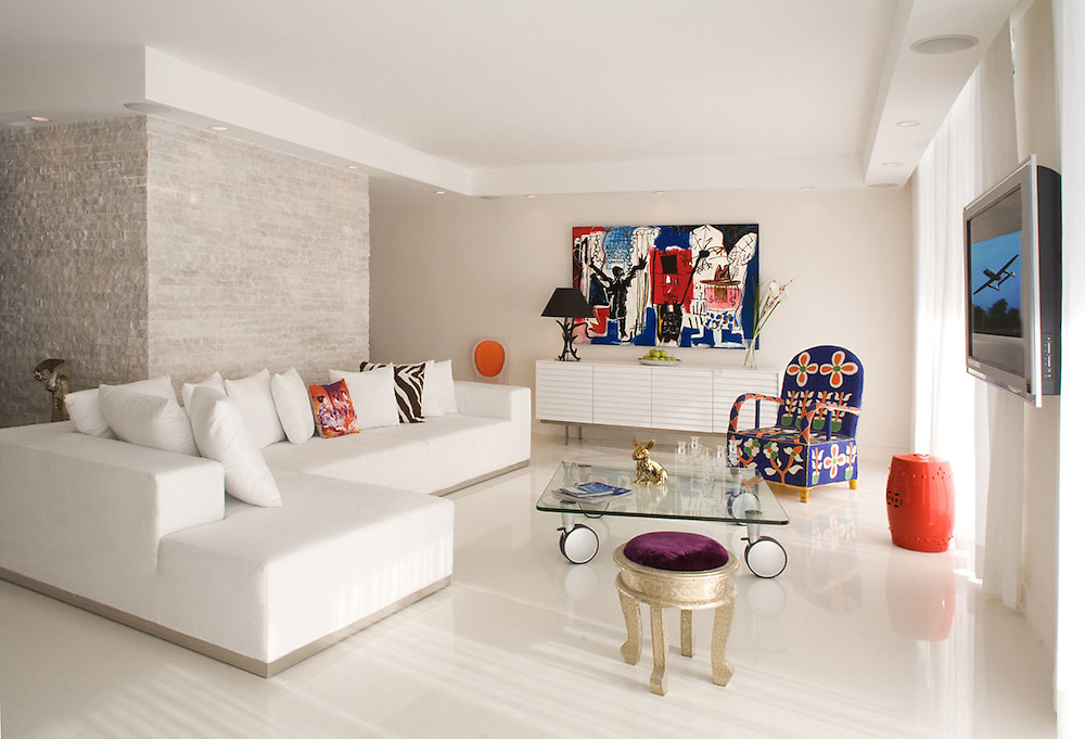 Cohen Penthouse Miami Beach. Interiors by Karine Rousseau Design. Photo by Robin Hill (c)