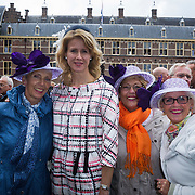 NLD/Den Haag/20130917 -  Prinsjesdag 2013,   Tweede Kamerlid van het CDA Mona Keijzer op de foto met enkele dames