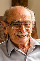 "98 year old Jack Welner, who is a Holocaust survivor. Welner was interned in the Lodz Ghetto in Poland, where he was faced hard labor and starvation before being transferred to Auschwitz and later to Dachau. He came to Denver, Colorado USA in 1950 where he still lives today. He has a large family of grandchildren and great grandchildren. His optimism has help him not only survive but thrive. He says ""Never let hate take root in your heart."""
