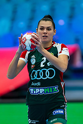 Szandra Szollosi-Zacsik of Hungary during the Women's EHF Euro 2020 match between Serbia and Hungary at Sydbank Arena on december 06, 2020 in Kolding, Denmark (Photo by RHF Agency/Ronald Hoogendoorn)