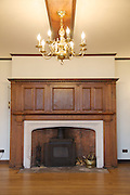 The ballroom, Pickwell Manor, Georgeham, North Devon, UK.<br /> CREDIT: Vanessa Berberian for The Wall Street Journal<br /> HOUSESHARE