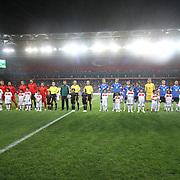 Turkey's and Estonia's during their FIFA World Cup 2014 qualifying soccer match Turkey betwen Estonia at Sukru Saracoglu stadium in Istanbul September 11, 2012. Photo by TURKPIX