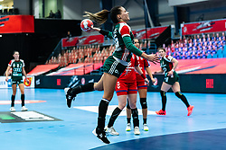 Viktoria Lukacs of Hungary during the Women's EHF Euro 2020 match between Serbia and Hungary at Sydbank Arena on december 06, 2020 in Kolding, Denmark (Photo by RHF Agency/Ronald Hoogendoorn)