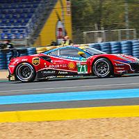 #71, Ferrari 488 GTE Evo, AF Corse, drivers: D. Rigon, M. Molina, S. Bird, GTE Pro, Le Mans 24H 2020. on 19/09/2020