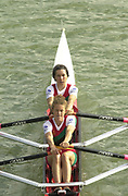 Seville, Andalusia, SPAIN<br /> <br /> 2002 World Rowing Championships - Seville - Spain Sunday 15/09/2002.<br /> <br /> Rio Guadalquiver Rowing course<br /> <br /> ZIM  LW2X Bow, Jill LANCASTER and Georgina SIMPSON,<br /> <br /> [Mandatory Credit:Peter SPURRIER/Intersport Images]
