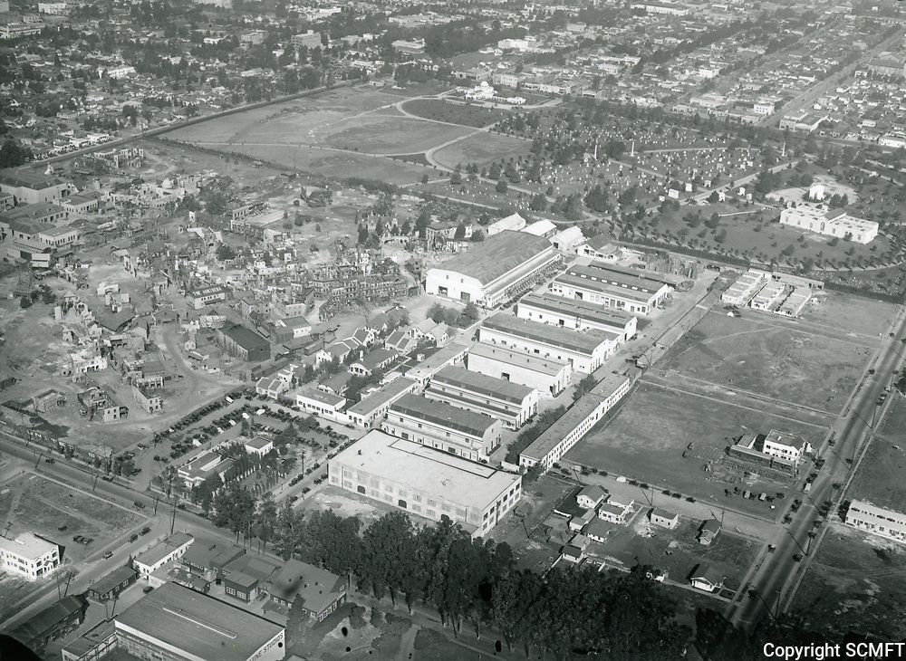 1922 Aerial view of United Studios on Melrose Ave.