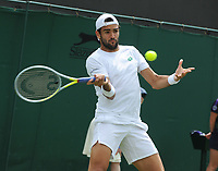 Tennis - 2021 All England Championship - Week One - Day Four (Thursday) - Wimbledon<br /> Matteo Berrettini v Botic Van de Zandschulp<br /> <br /> Matteo Berrettini of Italy<br /> <br /> CreditCOLORSPORT/Andrew Cowie