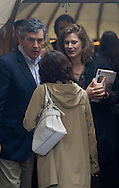 British Prime Minister Gordon Brown and his wife Sarah pictured leaving the 25th anniversary opening event at the Edinburgh International Book Festival, which he addressed. The event is the world's biggest literary festival and is held during the annual Edinburgh Festival. 2008 was the Book Festival's 25th anniversary and featured talks and presentations by more than 500 authors from around the world.