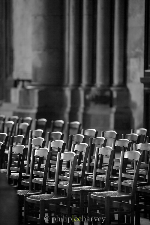 Chair in Cathedral of Notre-Dame in Reims, France