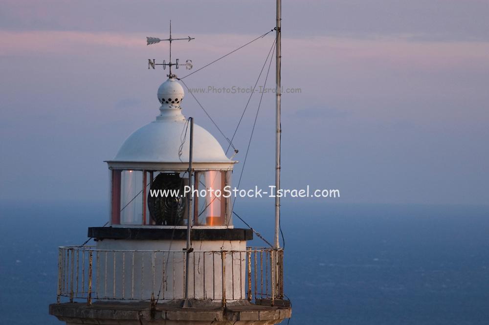 Turkey, Antalya Province, Olympos National Park, Cape Gelidonya. The lighthouse at dusk