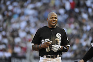 CHICAGO - JULY 05:  Andruw Jones #25 of the Chicago White Sox looks on against the Los Angeles Angels of Anaheim on July  5, 2010 at U.S. Cellular Field in Chicago, Illinois.  The White Sox defeated the Angels 9-2.  (Photo by Ron Vesely)