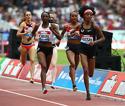 July 22, 2018 - London, United Kingdom - L-R Hellen Obiri of Kenya  and Sifan Hassan of Netherlands Compete in the 1 Mile Women Millicent Fawcett during the Muller Anniversary Games IAAF Diamond League Day Two at The London Stadium on July 22, 2018 in London, England. (Credit Image: © Action Foto Sport/NurPhoto via ZUMA Press)