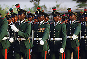 Soldiers marching, Nigeria, Africa