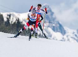 02.03.2019, Seefeld, AUT, FIS Weltmeisterschaften Ski Nordisch, Seefeld 2019, Nordische Kombination, Langlauf, Team Bewerb 4x5 km, im Bild Lukas Klapfer (AUT) // Lukas Klapfer of Austria during the Cross Country Team competition 4x5 km of Nordic Combined for the FIS Nordic Ski World Championships 2019. Seefeld, Austria on 2019/03/02. EXPA Pictures © 2019, PhotoCredit: EXPA/ Stefan Adelsberger
