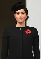 The Duchess of Cornwall, The Queen and The Duchess of Cambridge attend the Remembrance Sunday and the Centenary of the Armistice Service at the Cenotaph, Whitehall, London, UK, on the 11th November 2018. 11 Nov 2018 Pictured: The Duchess of Sussex attends the Remembrance Sunday and the Centenary of the Armistice Service at the Cenotaph, Whitehall, London, UK, on the 11th November 2018. Photo credit: James Whatling / MEGA TheMegaAgency.com +1 888 505 6342