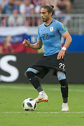 June 25, 2018 - Samara, Russia - Martin Caceres of Uruguay in action during the 2018 FIFA World Cup Russia group A match between Uruguay and Russia at Samara Arena on June 25, 2018 in Samara, Russia. (Credit Image: © Foto Olimpik/NurPhoto via ZUMA Press)
